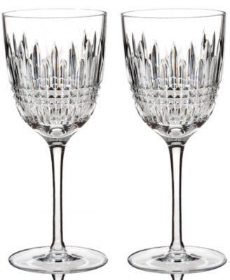 Waterford Stemware, Set of 2 Lismore Diamond Wine Glasses