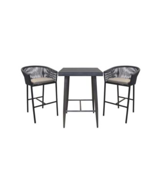 Braxtyn Outdoor 3pc Set Bar Collection (1 Bar Table & 2 Bar Stools), Created for Macy's