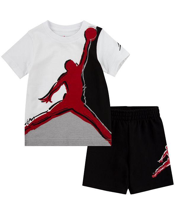 Jordan Baby Boys 2-Pc. Jumpman-Print T-Shirt & Shorts Set