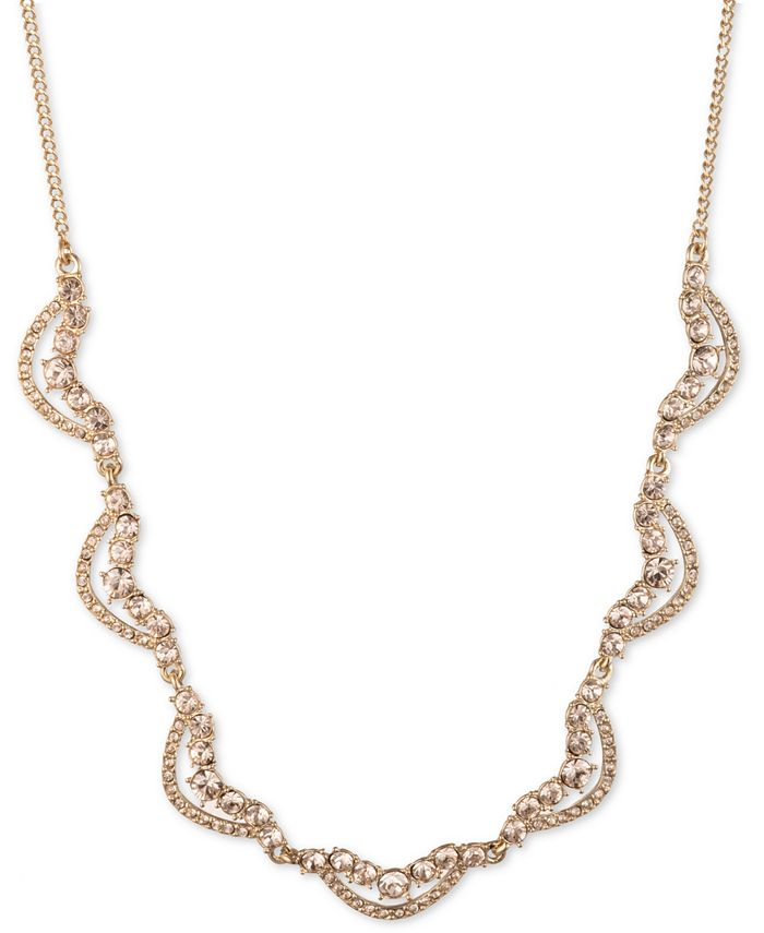 """Givenchy - Gold-Tone Crystal Twist Collar Necklace, 16"""" + 3"""" extender"""