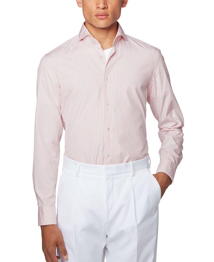 Hugo Boss - Men's Jemerson Striped Slim-Fit Shirt