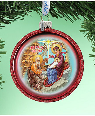 G Debrekht Orthodox Nativity Glass Ornament Hand Painted Glass Ornament Reviews Shop All Holiday Home Macy S