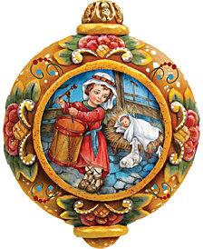 G.DeBrekht Hand Painted Drummer Boy Scenic Ornament