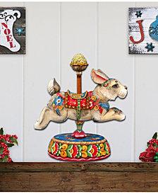 Designocracy Carousel Bunny Decor