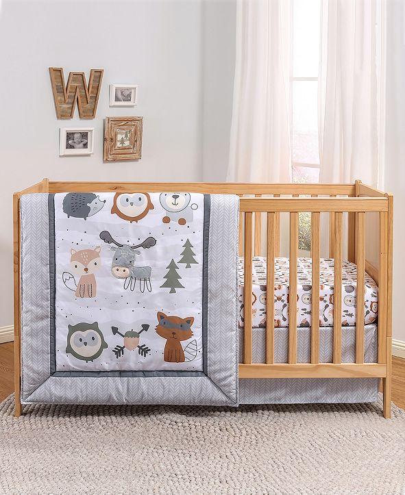 The Peanutshell PSP Woodland Walk 3-Piece Crib Bedding Set