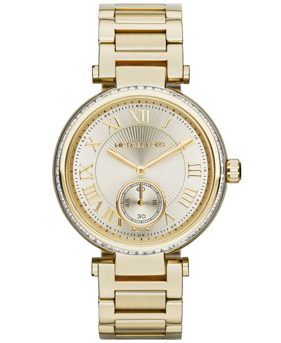 Michael Kors Womens Chronograph Parker Gold Tone Stainless Steel Bracelet Watch 39mm MK5701   Watches   Jewelry & Watches