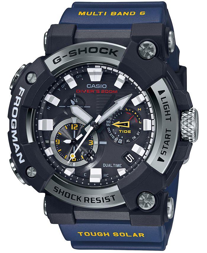G-Shock - Men's Solar Connected Frogman Blue Resin Strap Watch 53.3mm