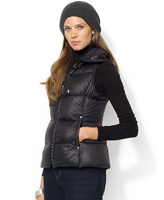 Lauren Ralph Lauren Quilted Down Packable Puffer Vest