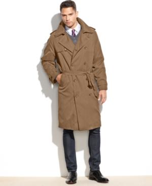 Men's Vintage Style Coats and Jackets London Fog Iconic Belted Trench Raincoat $179.99 AT vintagedancer.com