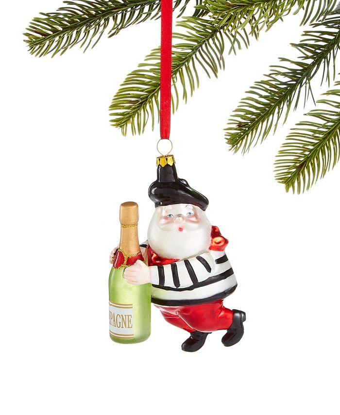 Holiday Lane - World Traveler Santa with Champagne Ornament