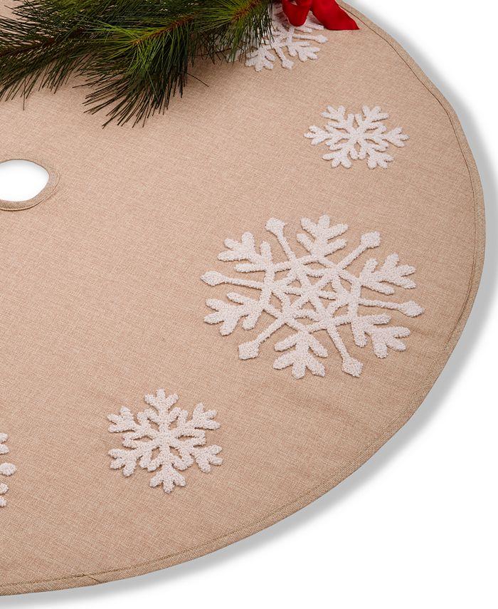 Holiday Lane - Snowflake Burlap Tree Skirt