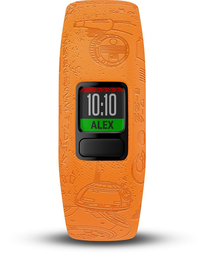 Garmin - Kid's vivofit jr. 2 Light Side Orange Silicone Strap Smart Watch 11mm