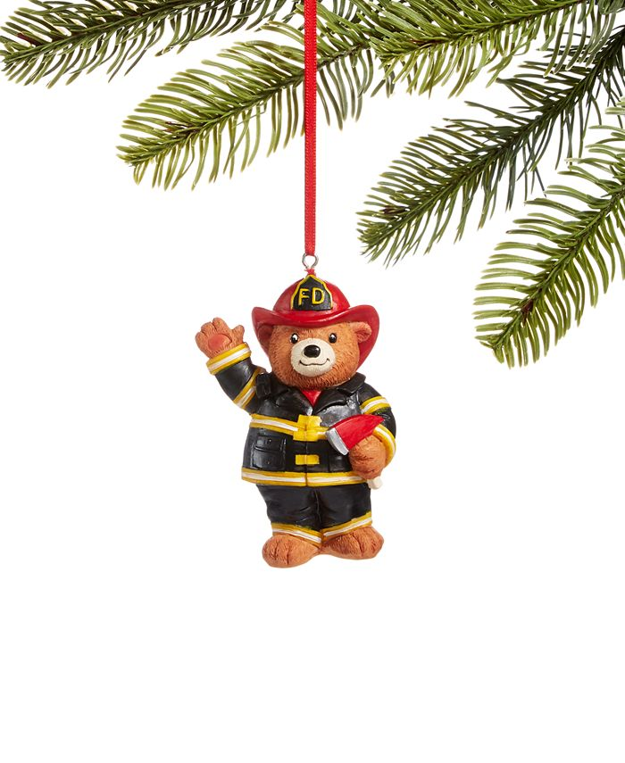 Holiday Lane - All About You Firefighter Bear Ornament