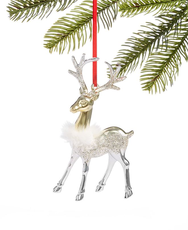 Holiday Lane Shine Bright Reindeer Ornament Created for Macy's