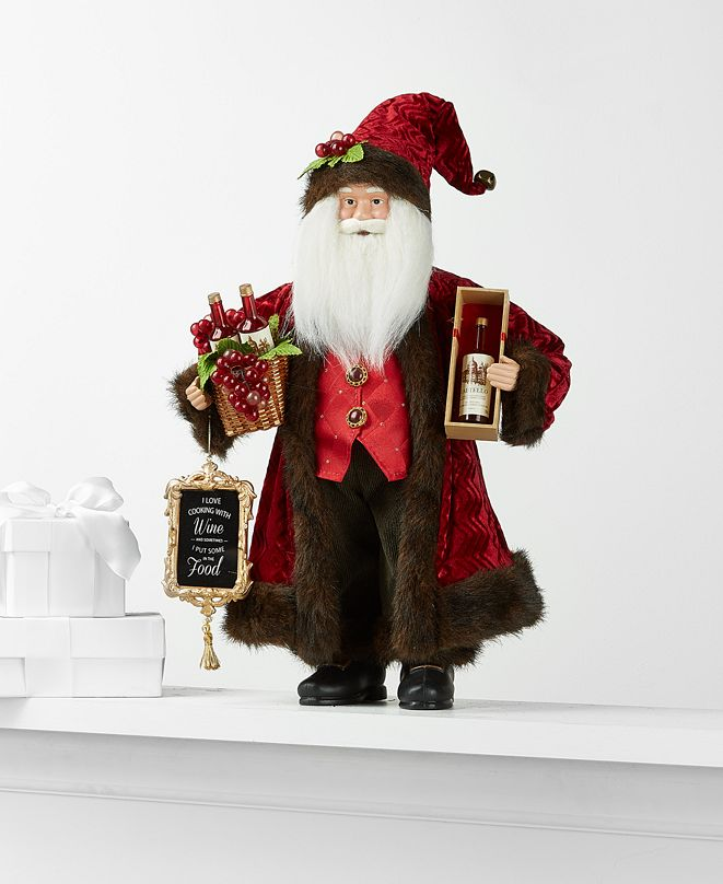Holiday Lane Standing Wine Santa, Created for Macy's
