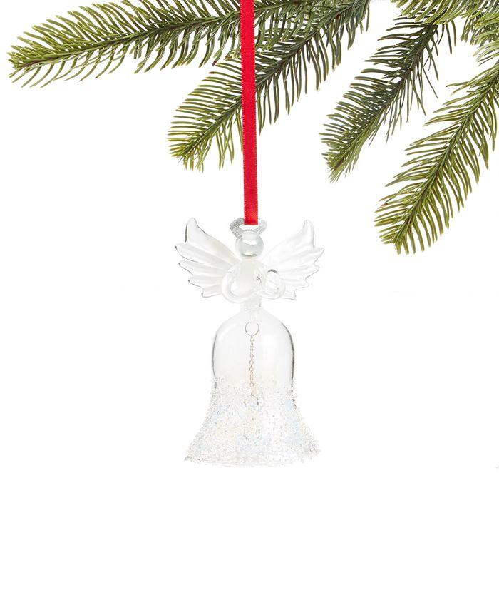 Holiday Lane - Snowdaze Glass Angel Bell Ornament