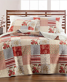 Farmstead Floral Patchwork Quilt and Sham Collection