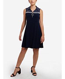 MSK Polka-Dot Sleeveless Dress