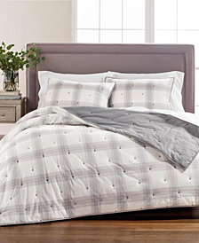 Tufted Plaid King/Cal King Quilt, Created for Macy's
