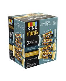 Kind Minis Dark Chocolate Nuts Sea Salt and Caramel Almond Sea Salt Variety, Pack of 32