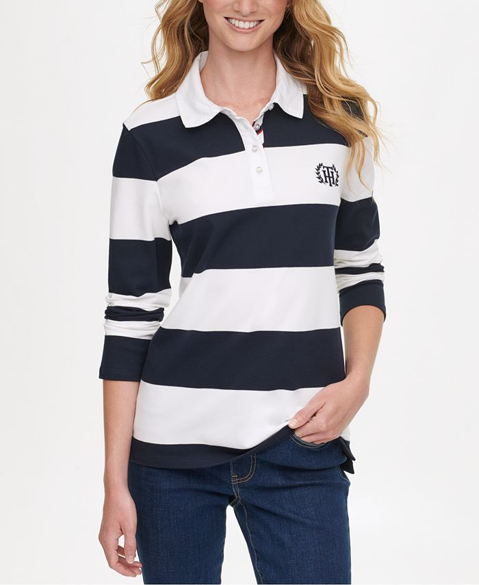 Tommy Hilfiger Rugby Stripe Polo Shirt, Created for Macy's ...
