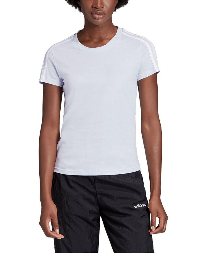 adidas - Essentials Cotton 3-Stripe T-Shirt