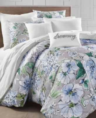 Floral Blooms 300-Thread Count Twin Duvet Set, Created for Macy's
