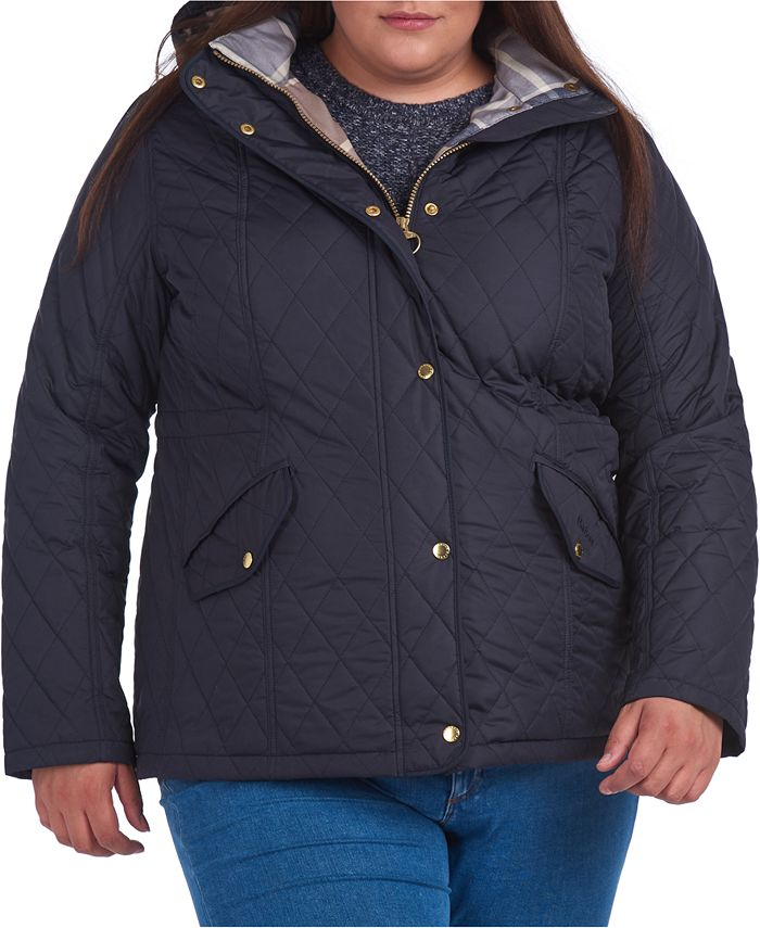 Barbour - Plus Size Millfire Hooded Quilted Coat
