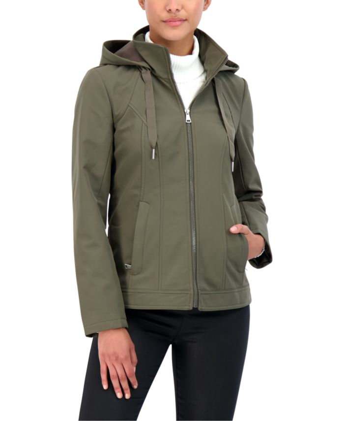 Sebby Juniors' Hooded Rain Jacket & Reviews - Coats - Women - Macy's