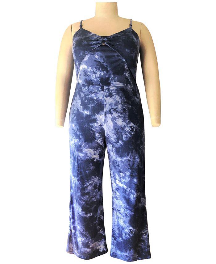 Derek Heart - Trendy Plus Size Striped Jumpsuit