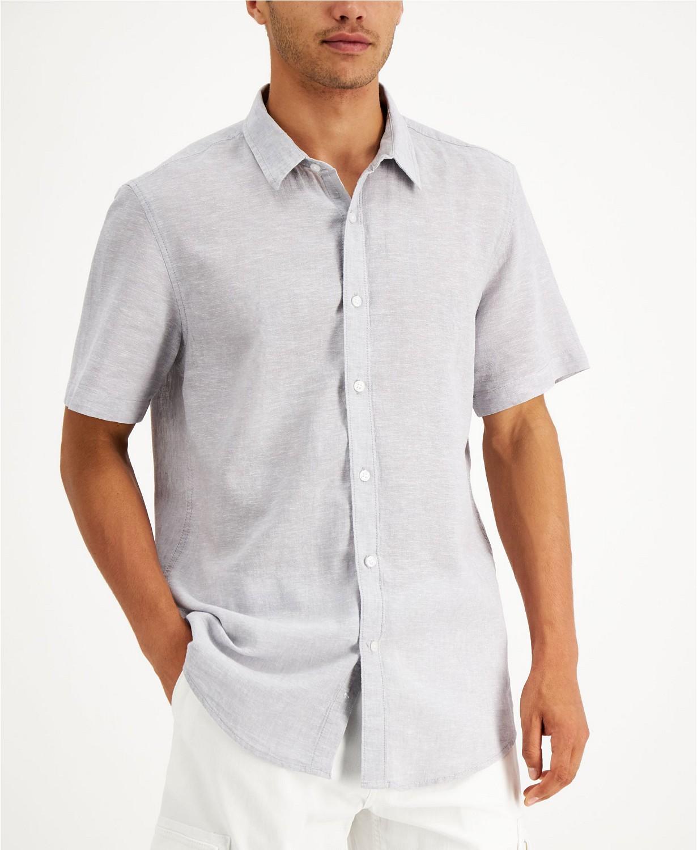 Sun + Stone Men's Linen Shirt