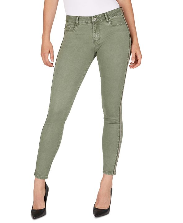 Numero Mid-Rise Side-Stripe Skinny Ankle Jeans