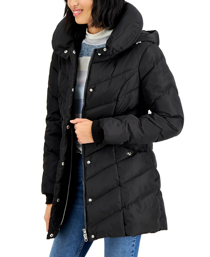Madden Girl - Juniors' Hooded Puffer Coat