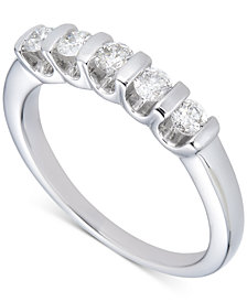 Diamond Tension Bar Band (1/2 ct. t.w.) in 14k White Gold