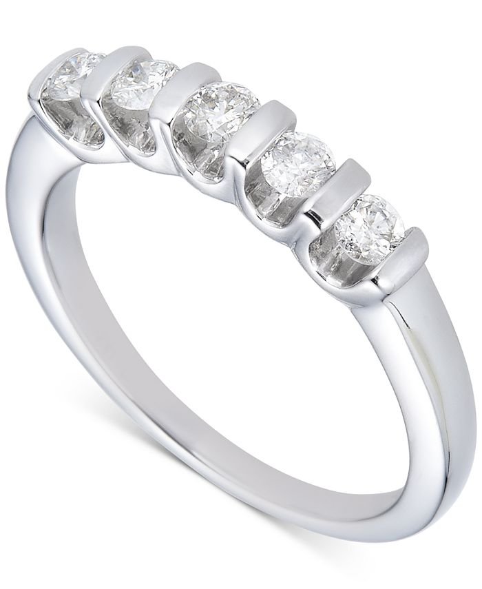 Macy's - Diamond Tension Bar Band (1/2 ct. t.w.) in 14k White Gold