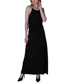 Ultra Flirt Juniors' Twist-Front Maxi Dress
