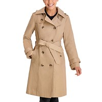 Deals on London Fog Double-Breasted Hooded Trench Coat