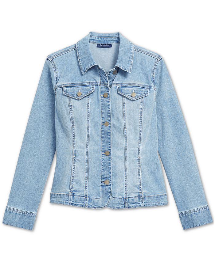 Charter Club Button Up Denim Jacket Created For Macy S Reviews Jackets Blazers Women Macy S