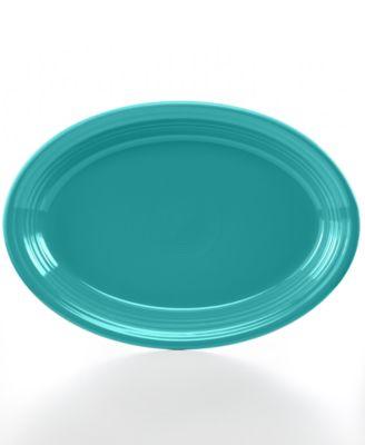 "Fiesta Turquoise 13"" Oval Platter"