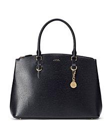 Lauren Ralph Lauren Saffiano Leather Satchel