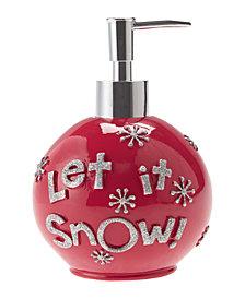 Décor Studio Let It Snow Ornament Holiday Lotion Pump