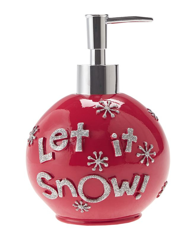 JLA Home Let It Snow Ornament Holiday Lotion Pump