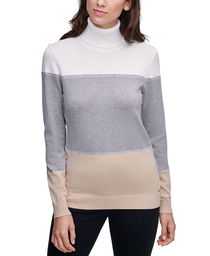Calvin Klein - Colorblocked Turtleneck Sweater