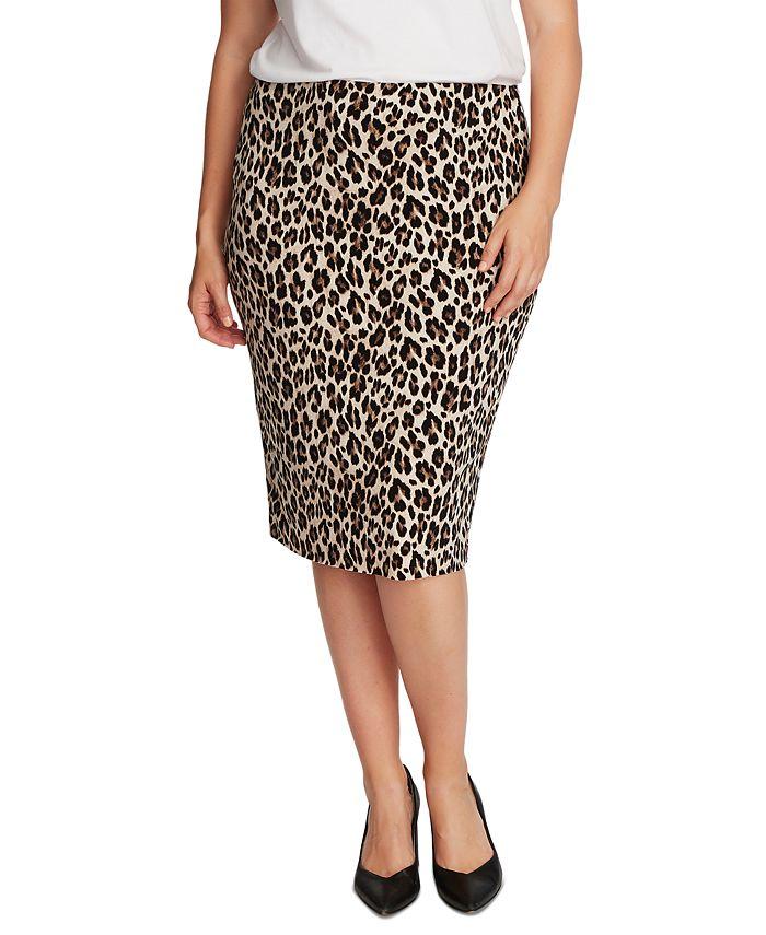 Vince Camuto - Plus Size Animal-Print Tube Skirt