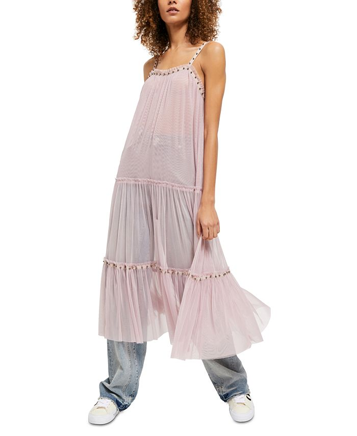 Free People - Night Out Mesh Maxi Dress