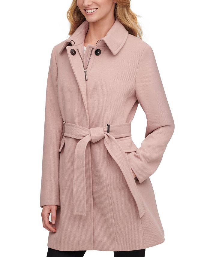 Calvin Klein - Single-Breasted Belted Coat