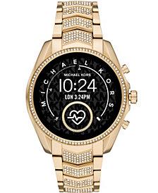 Michael Kors Women's Gen 5 Bradshaw Gold-Tone Stainless Steel Smartwatch 44mm