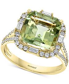 EFFY® Green Quartz (3-7/8 ct. t.w.) & Diamond (1/2 ct. t.w.) Ring in 14k Gold