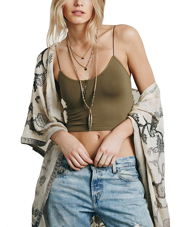 Free People Skinny-Strap Cropped Camisole