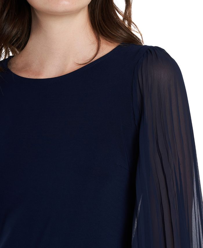 MSK Petite Pleated-Sleeve Sheath Dress & Reviews - Dresses - Petites - Macy's